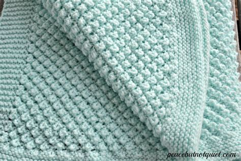 baby blanket knit easy knitting patterns popcorn baby blanket peace but