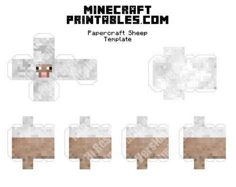 minecraft printable paper crafts sheep printable minecraft sheep papercraft template