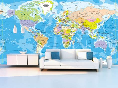 World Wall Map Mural world map wall mural 2017 grasscloth wallpaper