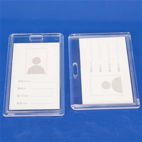 how to make plastic id cards at home plastic clear id card holder for employee buy clear id