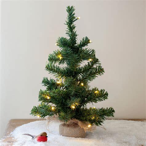 mini tree lights pre lit battery mini tree with jute bag