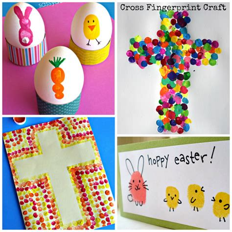 fingerprint crafts for easter handprint and fingerprint crafts for crafty
