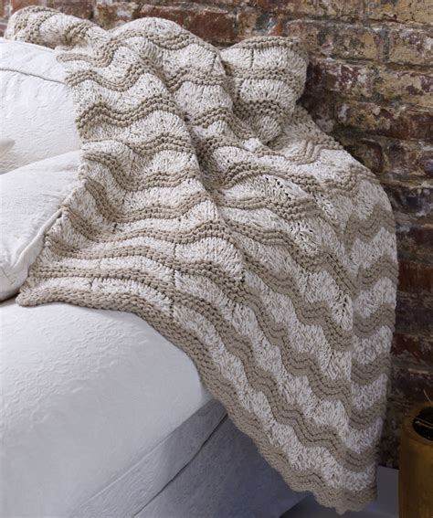 knit blanket pattern knit wave afghan knitting pattern knitting