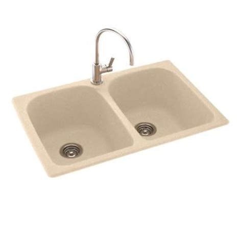swanstone kitchen sink colors swanstone dual mount composite 33x22x10 in 1