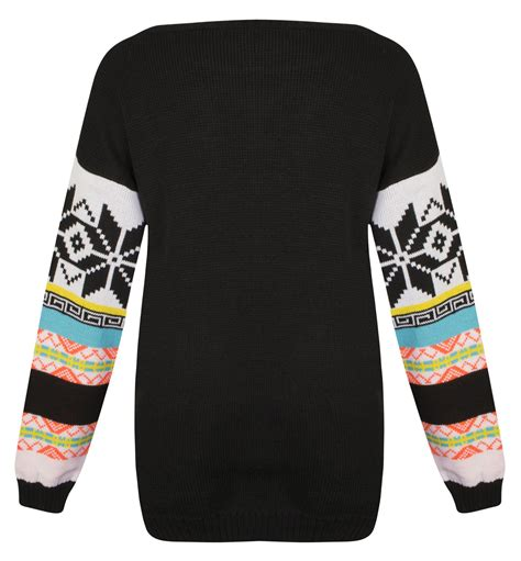 novelty knitted jumpers womens knitted fairisle penguin novelty sweater