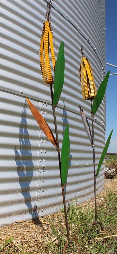 metal yard decor metal corn stalk garden stake yard decor