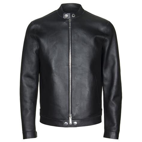 dsquared leather jacket dsquared coats jackets leather biker jacket in black anthony mens designer clothes