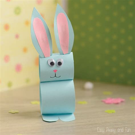 easter bunny paper crafts paper bunny craft easy easter craft for easy