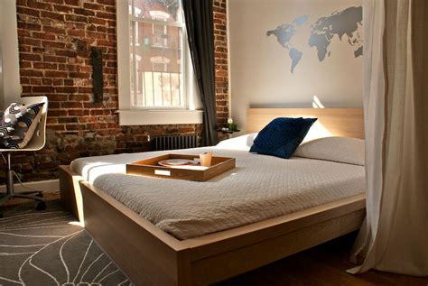exposed brick bedroom modern bedroom with exposed brick wall decoist