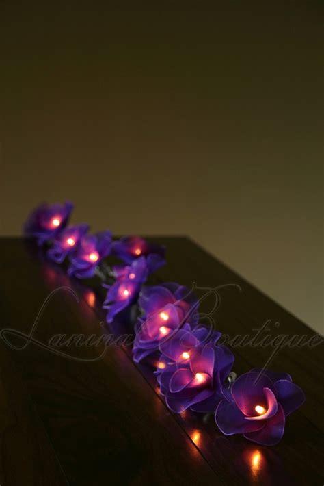 purple led string lights 20 purple flower battery powered led string