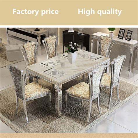 stainless steel dining room table contemporary modern dining set stainless steel marble top