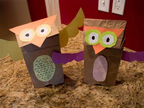 owl paper bag craft brown paper bag owl puppet crafts activities for