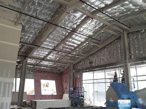 warehouse ceiling foil foil faced fiberglass batt insulation installation el