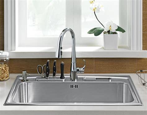 basin sink kitchen toccata single basin self kitchen sink w kitchen
