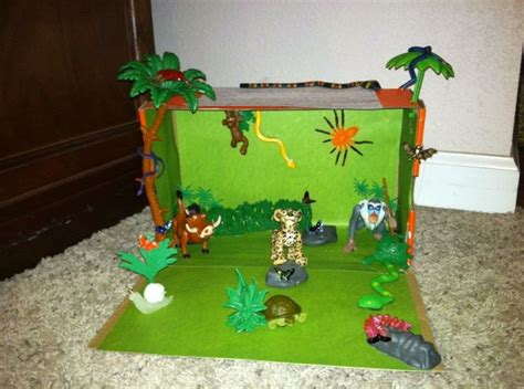 rainforest craft ideas for school tropical forest biome project i actually did