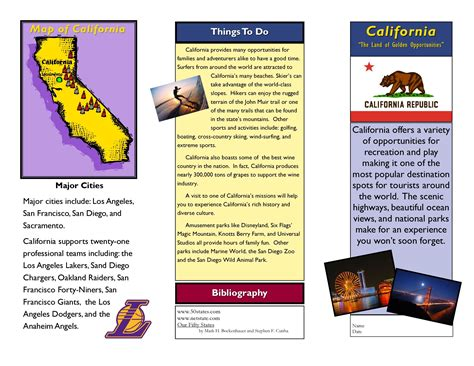 travel brochure template for students the best templates
