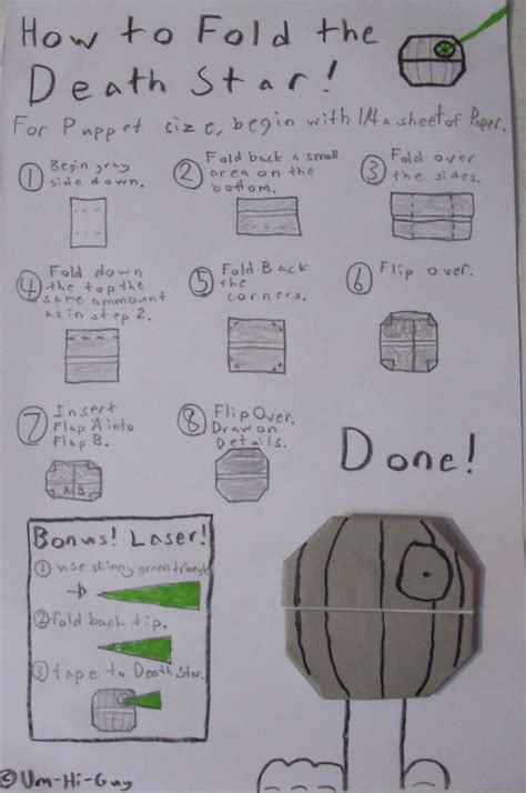 how to fold origami wars characters um hi s jabba ganza of origami origamiyoda