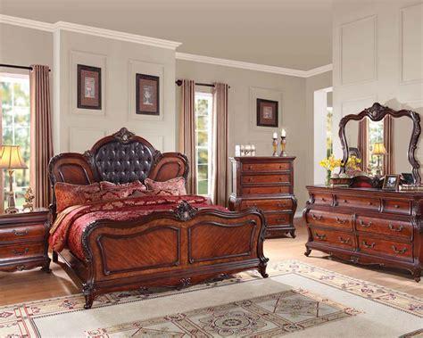 cherry bedroom furniture set cherry finish bedroom set dorothea by acme furniture
