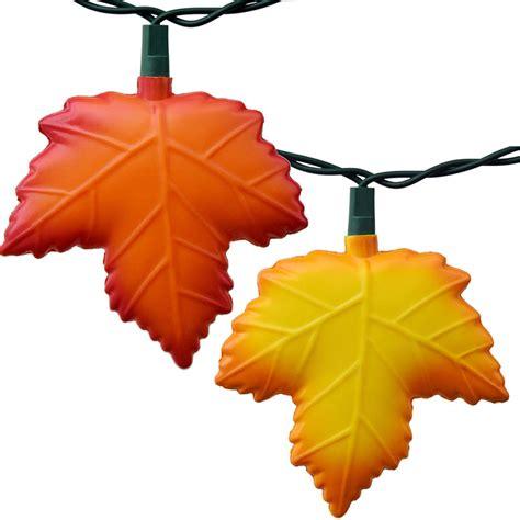 autumn string lights autumn leaf string lights 10 lights