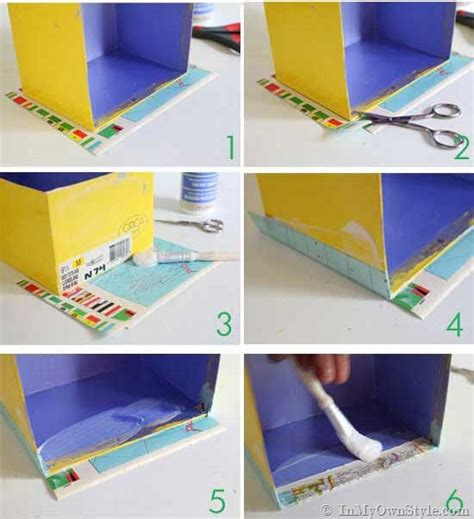 how to decoupage a cardboard box map covered shelf organizing using shoeboxes decoupage