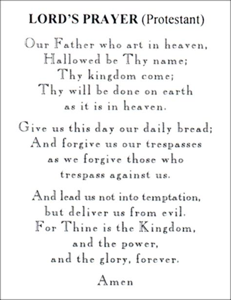 how to make protestant prayer lord s prayer protestant
