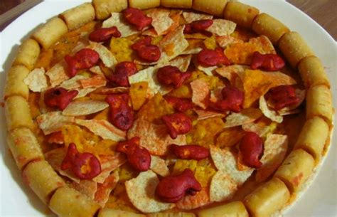 snack food turn pizza flavored snack foods into meta pizza didn t