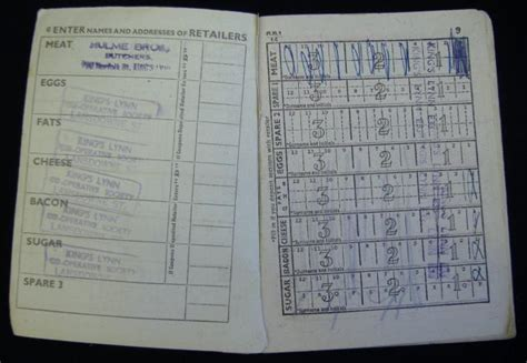 pictures of ration books history