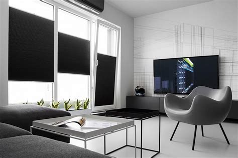 Bright Kitchen Color Ideas small black and white apartment in poland exudes refined