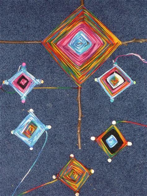 mayan crafts for ancient mayan indian unit god s eye yarn craft