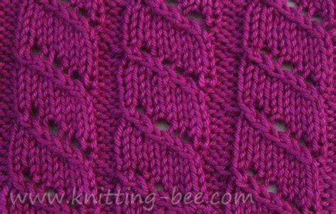 diagonal knitting stitch diagonal lace stripe knitting stitch knitting bee