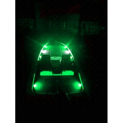 green and led lights nox series bass boat led deck light green 6