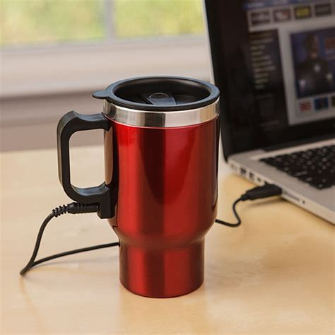 Dual Heated Travel Mug   ThinkGeek