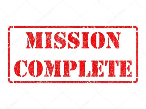 completed rubber st mission complete rubber st stock photo