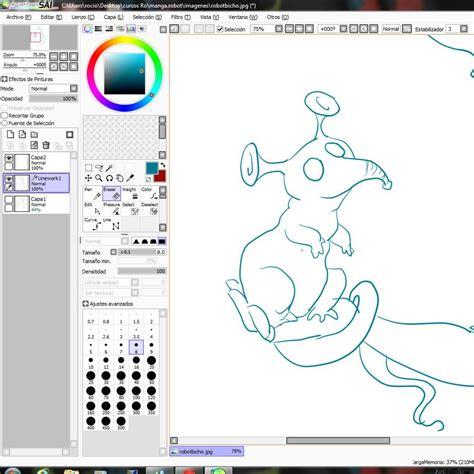 Curso Gratis De Dibujar Robot Dibujo En Paint Tool