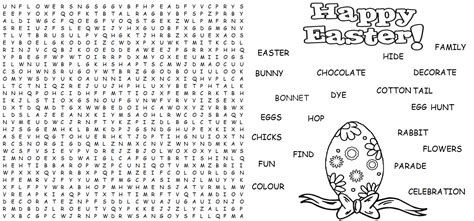 word finder word find easter activities