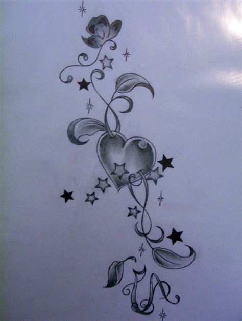 heart star tattoo designs cool tattoos bonbaden