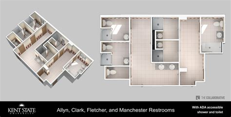 Accessible Bathroom Plans by Renovated Bathrooms Kent State University