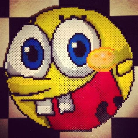 spongebob perler 17 best images about perler sponge bob on