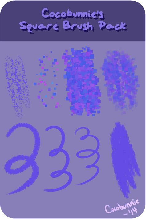 paint tool sai glitter brush bp square brush pack by cocobunnie on deviantart