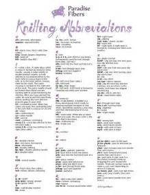 knit abbreviations knitting abbreviations technique tips