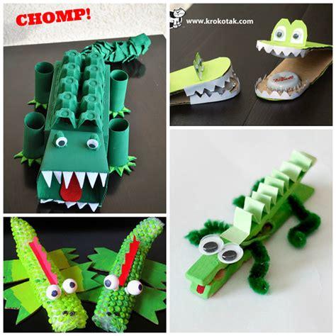 crocodile craft for creative alligator crocodile crafts for crafty