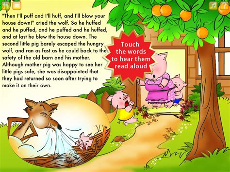 three pigs story book with pictures the three pigs storybook hd for ios digitally