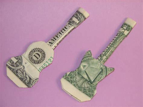 origami guitar dollar bill acoustic electric guitars money origami crafts