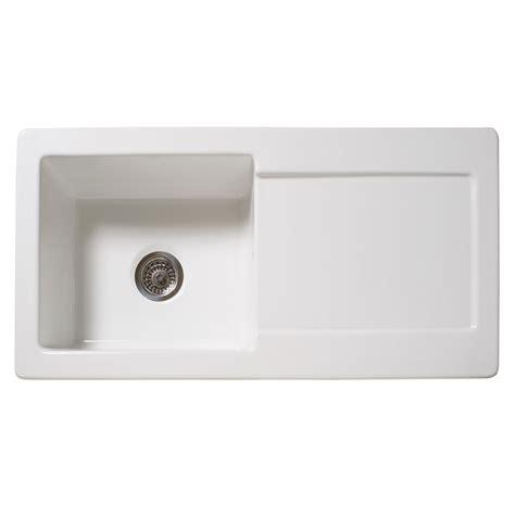 white bowl kitchen sink reginox contemporary white ceramic 1 0 bowl kitchen sink