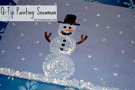 Q Tip Painting Snowman Craft