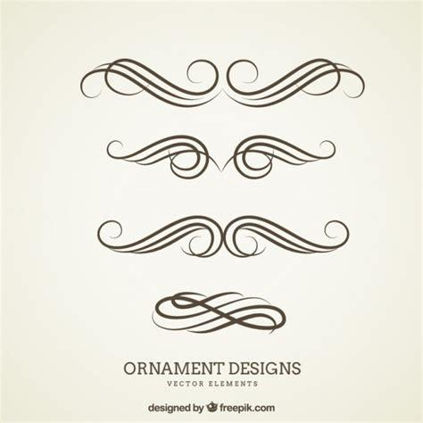 ornament designs vector free
