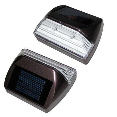 Solar Deck Lights For Steps by Set Of 2 Solar Deck Step Lights Rectangle Illuminates Up