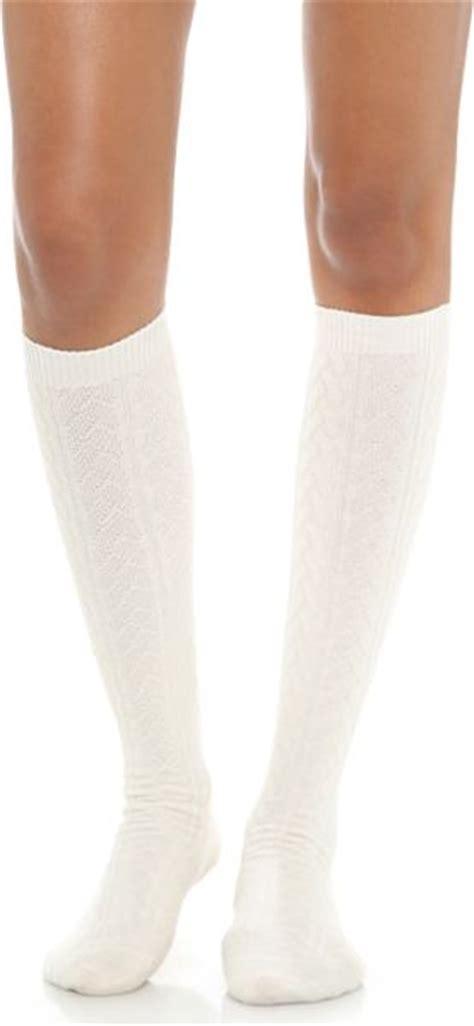 white cable knit knee high socks falke striggings cable knit knee high socks grey in
