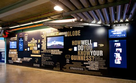 infographic wall ipads guinness building an exhibition for