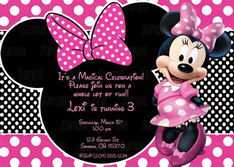 how to make minnie mouse invitation cards printable minnie mouse invitation plus free blank matching